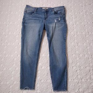Maurices 32 Skinny Jeans Distressed Light Wash